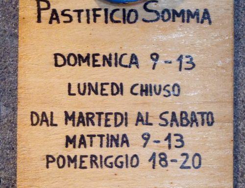 Agosto nella Bottega della Pasta Somma